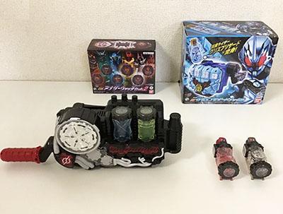 仮面ライダービルド 変身凍拳 DXグリスブリザードナックル、仮面ライダージオウ DXアナザーウォッチセットVOL.2 他買取