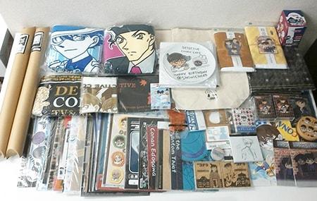 名探偵コナン グッズ タオル、メラミンプレート、トートバッグ、キャラバッジコレクション、クリアファイル、トランプ 他買取