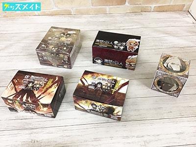 【未開封】 進撃の巨人 ラバーストラップコレクション ラバーキーホルダーコレクション ×2BOX コレクションコースター part2 他