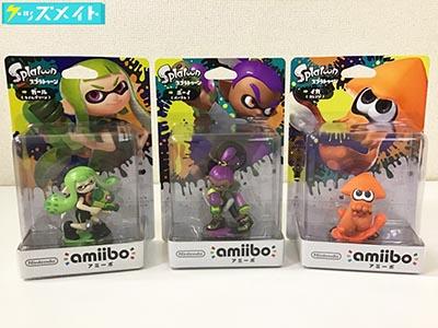 未開封】Nintendo amiibo アミーボ Splatoon スプラトゥーン イカ(オレンジ) , ガール(ライムグリーン) , ボーイ(パープル) 買取