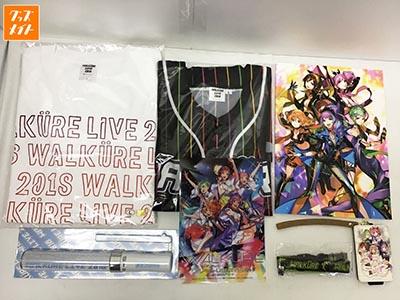 マクロスΔ WALKURE ワルキューレLIVE2018 グッズ まとめ売り Tシャツ , ペンライト , パスケース 他 買取