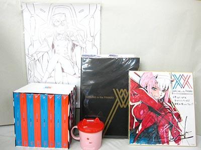 ダーリン・イン・ザ・フランキス Blu-ray(ブルーレイ)1~8巻BOX、全巻購入連動特典、収納ケース、マグカップ、ポートレート、色紙 買取